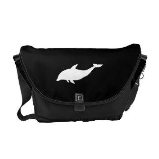 Forma del delfín bolsas de mensajeria