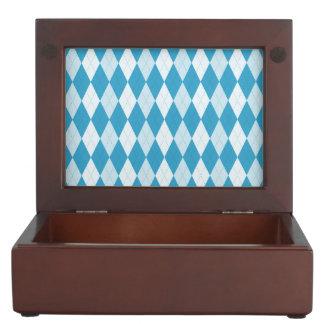 Forma del diamante de Argyle del azul de pavo real Caja De Recuerdos