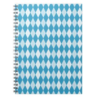 Forma del diamante de Argyle del azul de pavo real Cuaderno