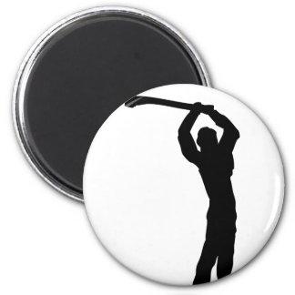 forma del leñador imán redondo 5 cm