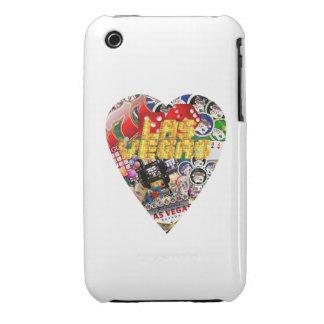 Forma del naipe del corazón de Las Vegas iPhone 3 Cárcasa