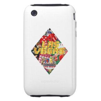 Forma del naipe del diamante de Las Vegas iPhone 3 Tough Cárcasas
