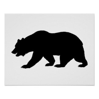 Forma del oso poster