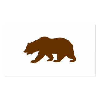 Forma del oso tarjetas de visita