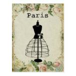 Forma del vestido de la moda de París del vintage