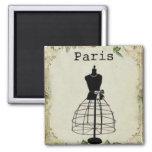 Forma del vestido de la moda de París del vintage Imán Para Frigorifico