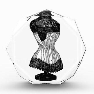 Forma del vestido del corsé del vintage