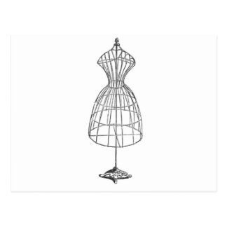 Forma del vestido del Victorian Tarjeta Postal