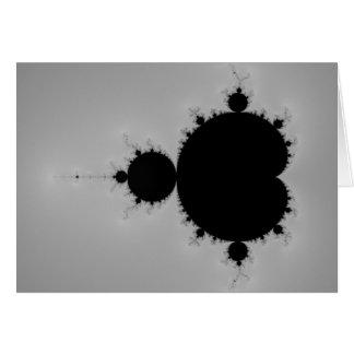 Forma determinada del fractal de Mandelbrot Tarjeta De Felicitación