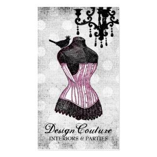 Forma fabulosamente francesa del vestido 311 tarjeta de negocio
