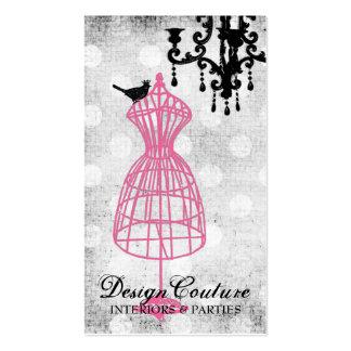 Forma fabulosamente francesa del vestido del alamb plantilla de tarjeta de visita