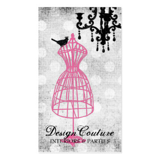 Forma fabulosamente francesa del vestido del tarjetas de visita