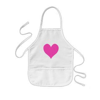 Forma linda rosada del corazón de Bubblegum Delantal Infantil