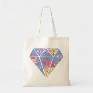 Forma moderna del diamante de los estampados de bolsa tela barata