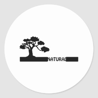 Forma natural, natural del árbol en graduador pegatina redonda