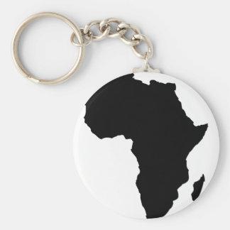 forma negra de África Llavero Redondo Tipo Pin