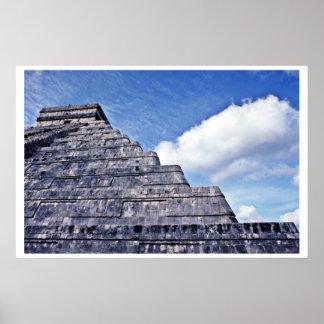 Forma ondulada de la serpiente del EL Castillo Impresiones