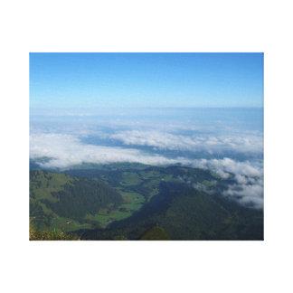 Forma Pilatus, montañas de la visión Impresiones En Lona