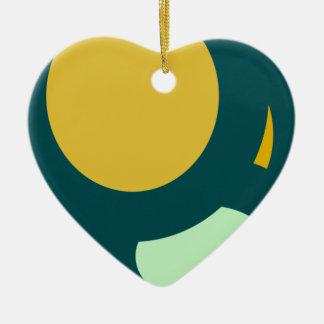 forma redonda de la forma del círculo adorno de cerámica en forma de corazón