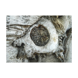 Forma redonda del extracto extraño del árbol impresión en lienzo