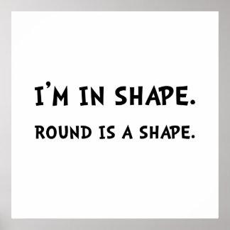 Forma redonda póster