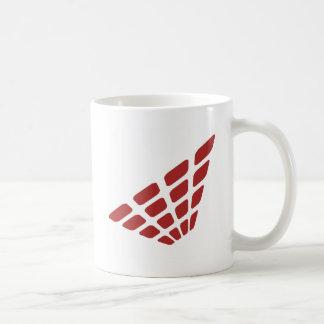 Forma retra de la pirámide tazas de café