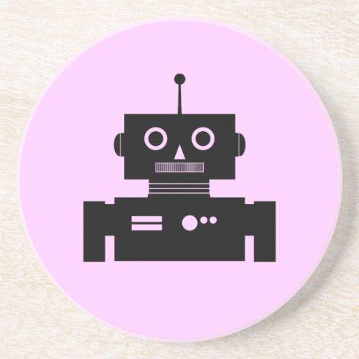 Forma retra del robot posavasos manualidades