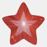 Forma roja de la estrella del pegatina de la