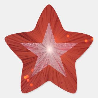 Forma roja de la estrella del pegatina de la estre