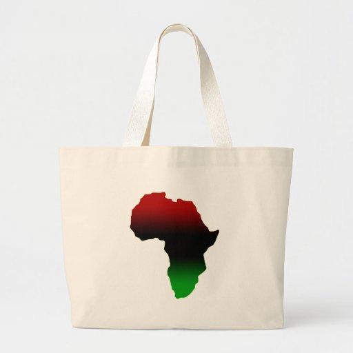Forma roja, negra y verde de África Bolsa Tela Grande