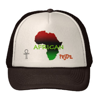 Forma roja, negra y verde de África Gorro De Camionero
