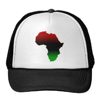 Forma roja, negra y verde de África Gorros Bordados