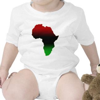 Forma roja, negra y verde de África Trajes De Bebé