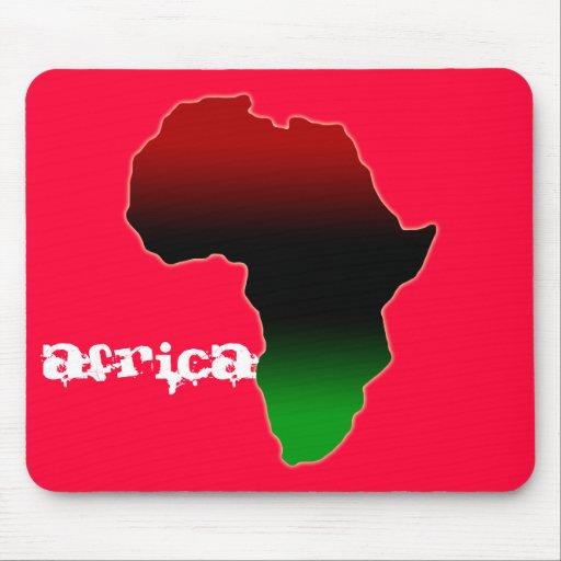 Forma roja, negra y verde de África Tapetes De Ratones