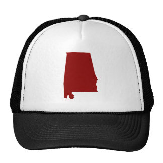 Forma rojo oscuro de Alabama Gorros Bordados