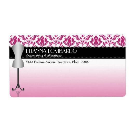 Forma rosada del vestido de la moda del damasco etiqueta de envío