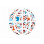 Forma social del mundo tarjetas postales
