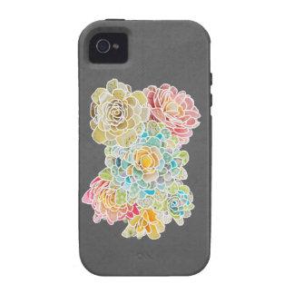 Forma y función en uno floral - vibe iPhone 4 funda
