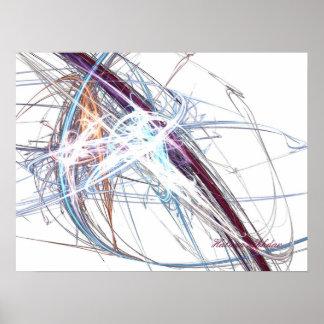 formación abstracta de la luz del starburst, póster