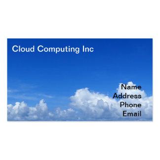 Formación brillante del cielo azul y de la nube tarjetas de visita