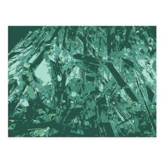 Formación cristalina azulada postal