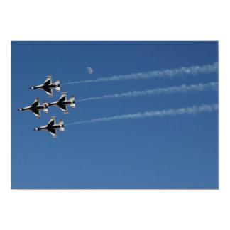 Formación de diamante de los Thunderbirds F-16 Invitación 12,7 X 17,8 Cm