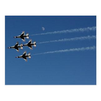Formación de diamante de los Thunderbirds F-16 Tarjeta Postal