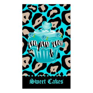 Formación de hielo azul subió leopardo del corazón tarjetas de visita
