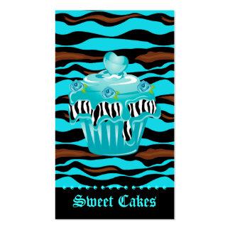 Formación de hielo azul subió tigre del corazón de tarjetas de visita