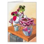 Formación de hielo rosada tarjeta de felicitación