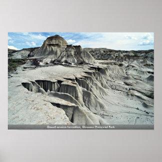 Formación de la erosión del desierto, parque provi posters