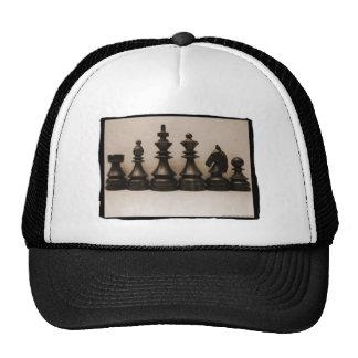 Formación de la familia del ajedrez gorros bordados