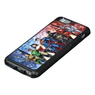 Formación de la liga de justicia 52 de la liga de funda otterbox para iPhone 6/6s