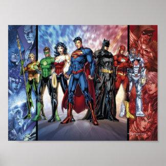 Formación de la liga de justicia 52 de la liga de póster